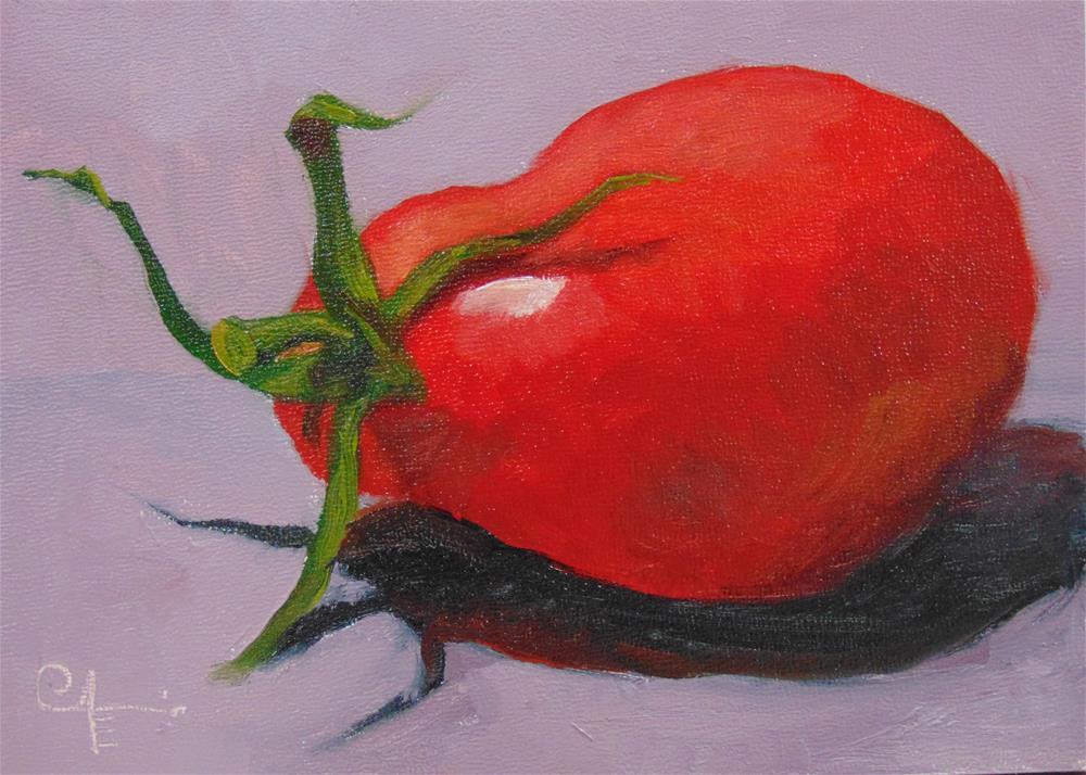 """Plum Tomato"" original fine art by Catherine Kauffman"