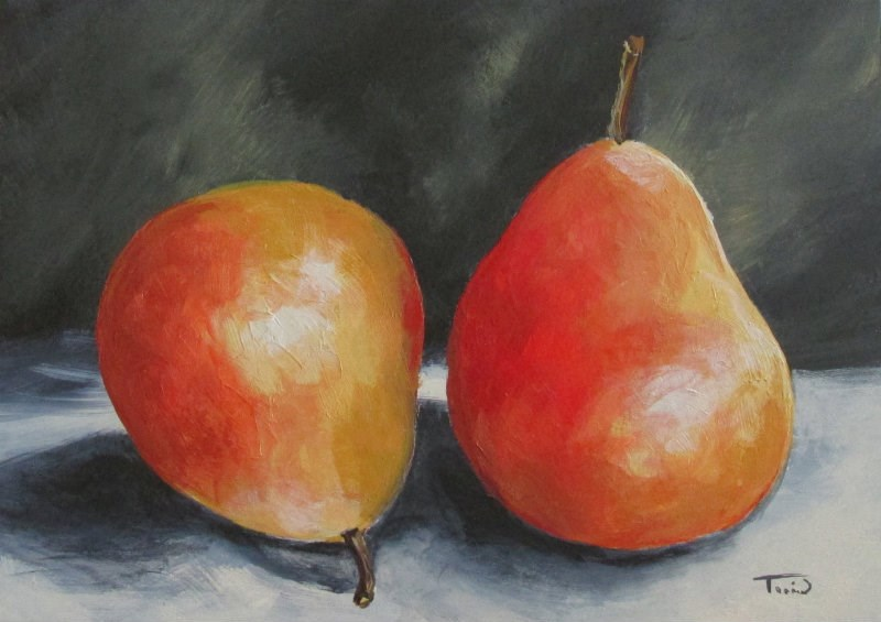 """January Pears"" original fine art by Torrie Smiley"