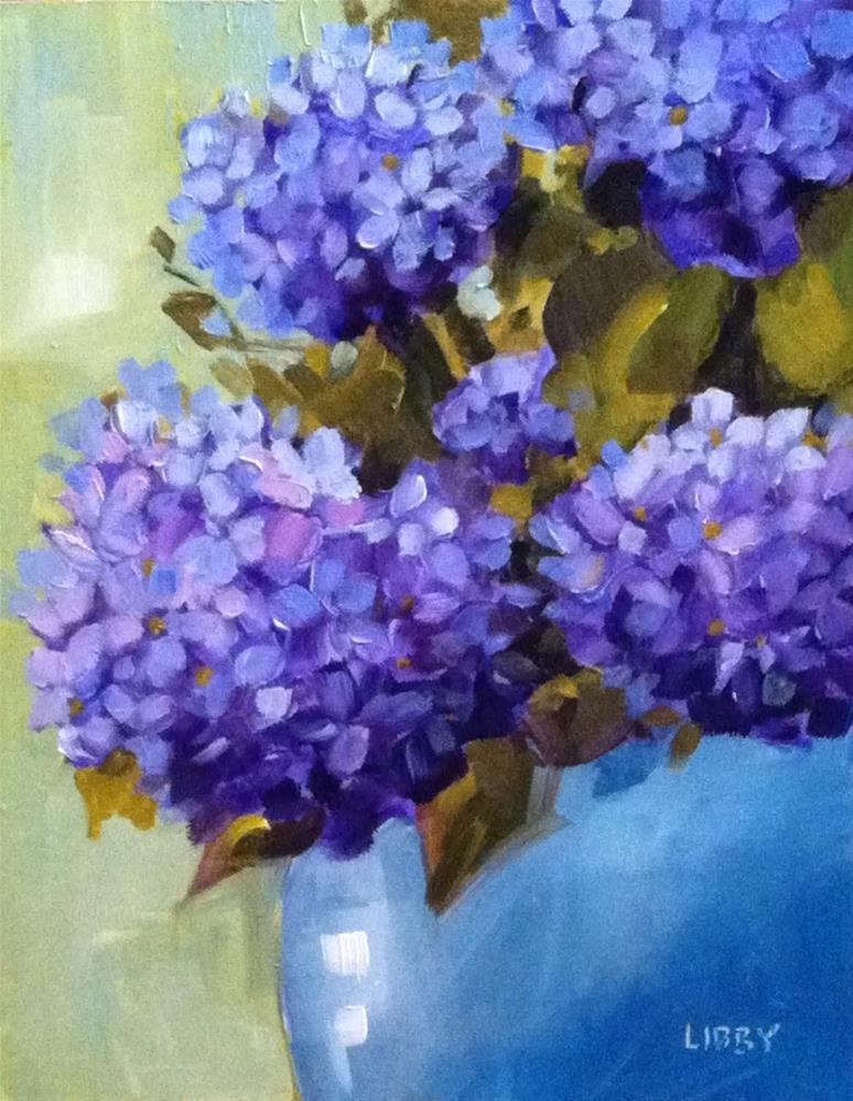"""Happy Hydrangeas"" original fine art by Libby Anderson"