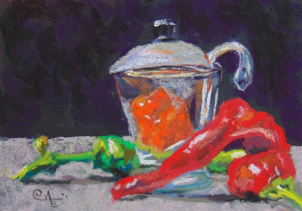 """Hot Pepper Jelly"" original fine art by Catherine Kauffman"