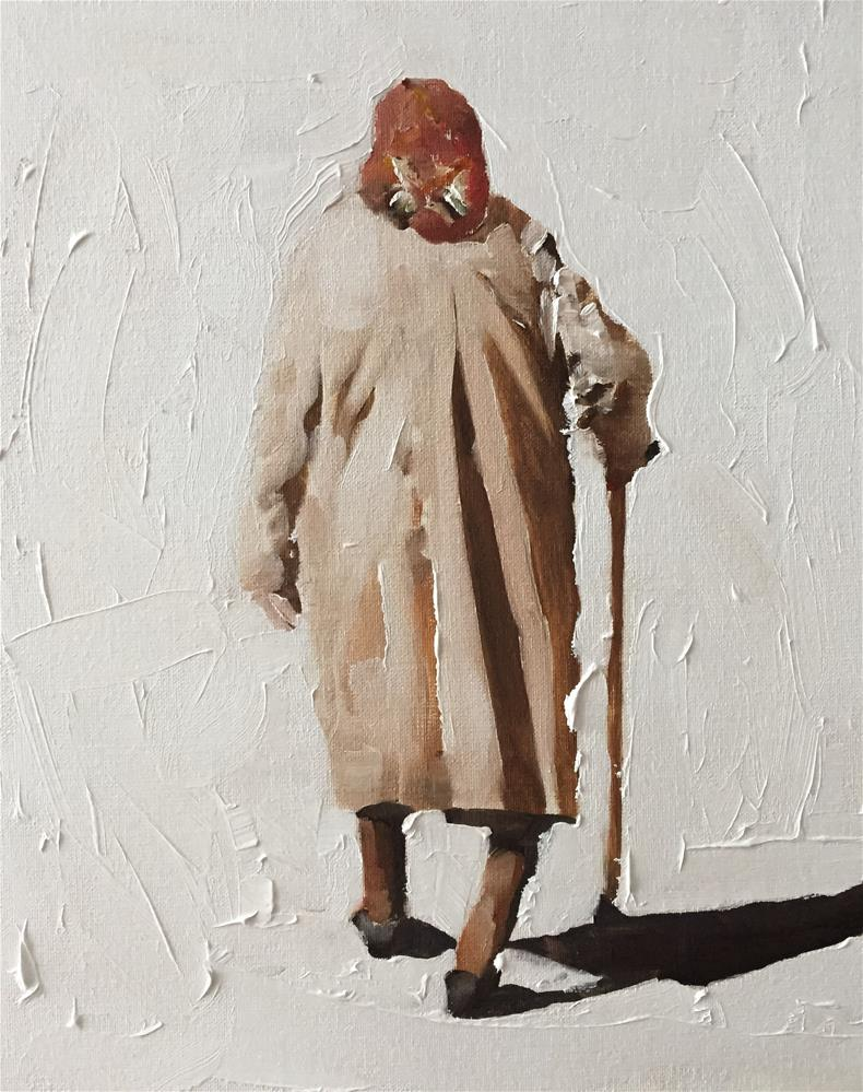 """Old Lady"" original fine art by James Coates"