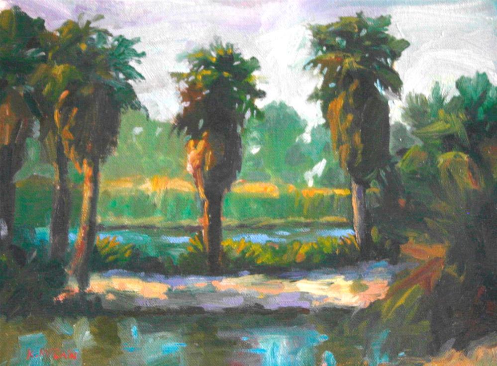 """""""Agua Caliente"""" original fine art by K.R. McCain"""