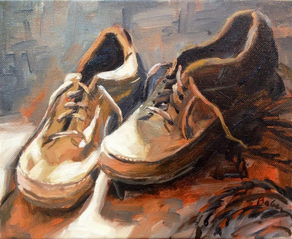 """PaPa's Last Walk"" original fine art by gabriele baber"