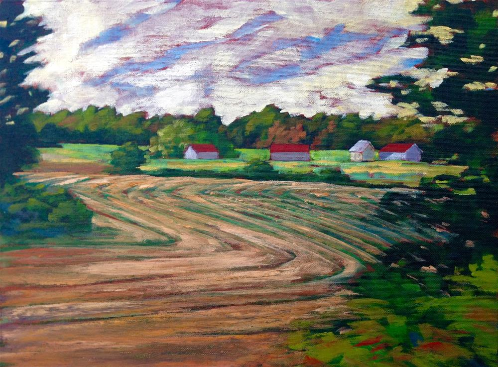 """Mowed Fields 14x18"" original fine art by Eileen Hennemann"