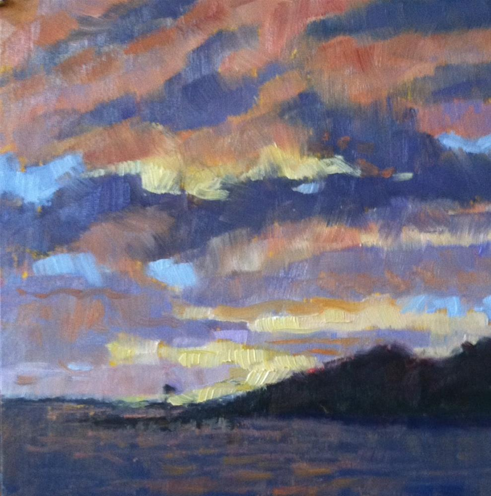 """""""Constable Sky"""" original fine art by Katharine March"""