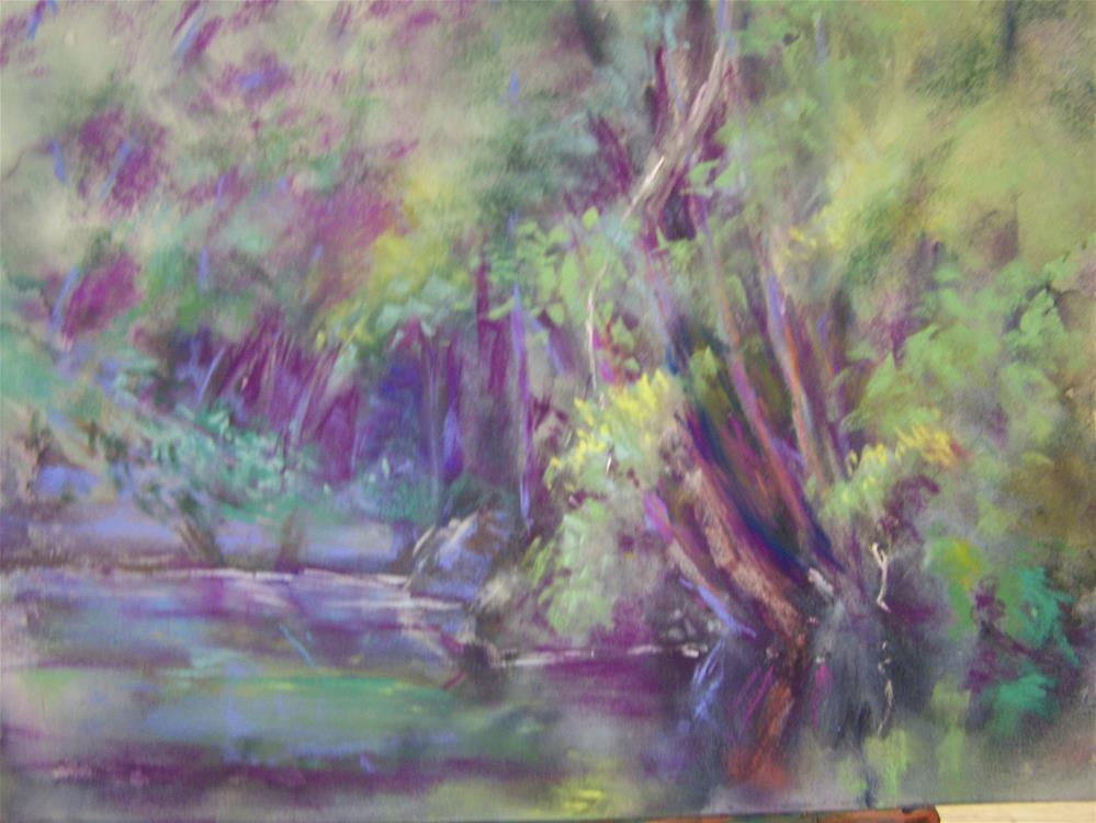 """River Reflections"" original fine art by Joan Reive"