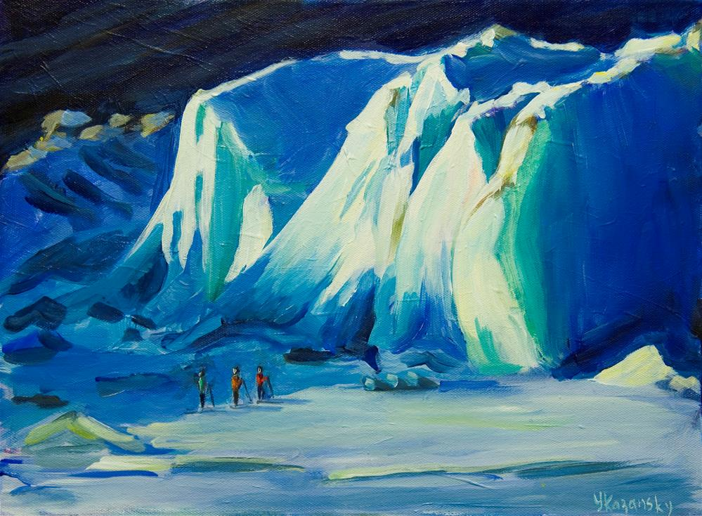"""Alaska Glacier"" original fine art by Yulia Kazansky"