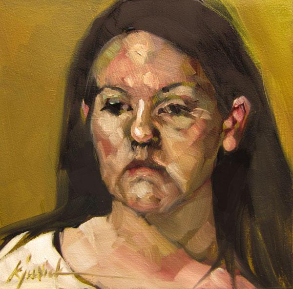 """100 Faces, No. 52"" original fine art by Karin Jurick"