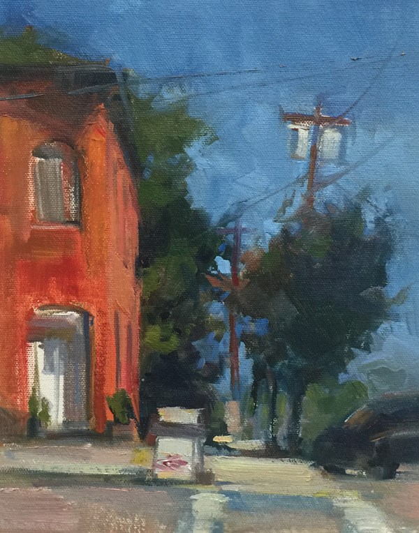 """The Old Oakland Hotel"" original fine art by Patti McNutt"