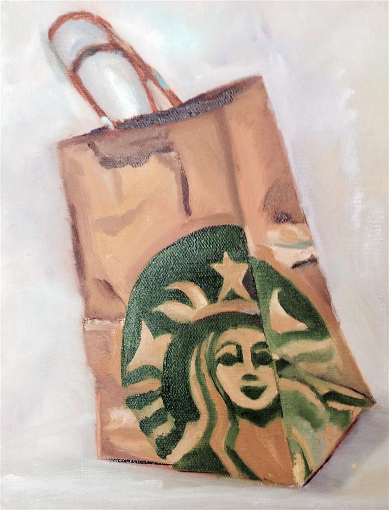 """Paper Sack"" original fine art by Peggy Schumm"