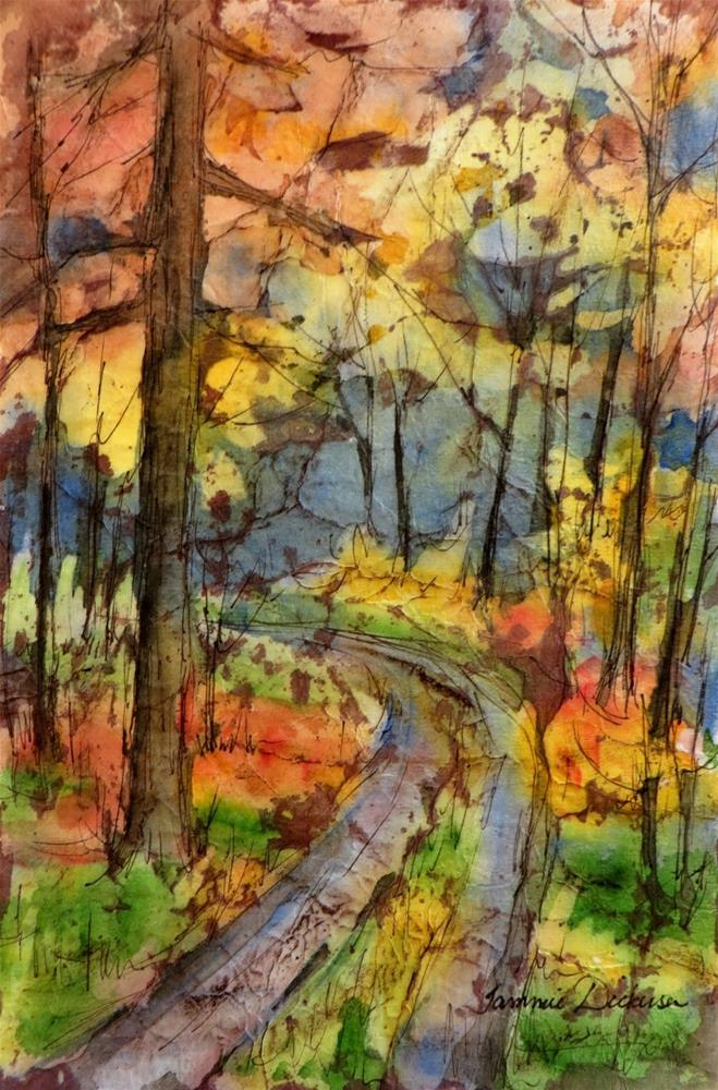 """""""Autumn Ablaze"""" original fine art by Tammie Dickerson"""