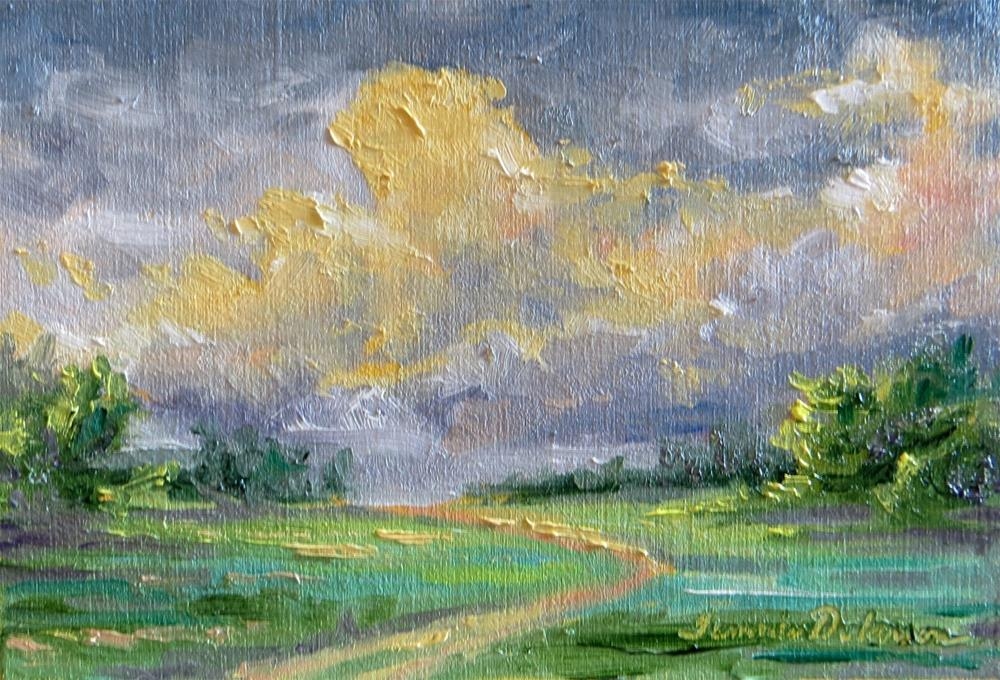 """""""Path to Golden Clouds"""" original fine art by Tammie Dickerson"""