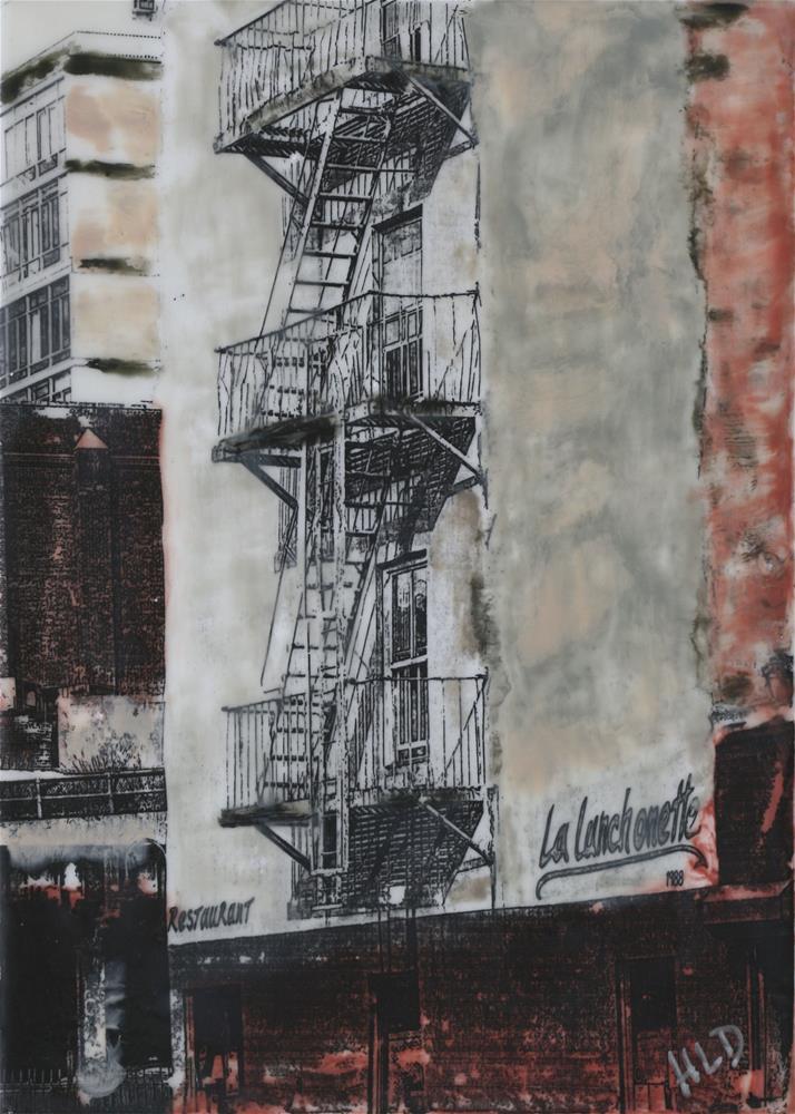 """Fire Escape NYC #2"" original fine art by Heather Douglas"