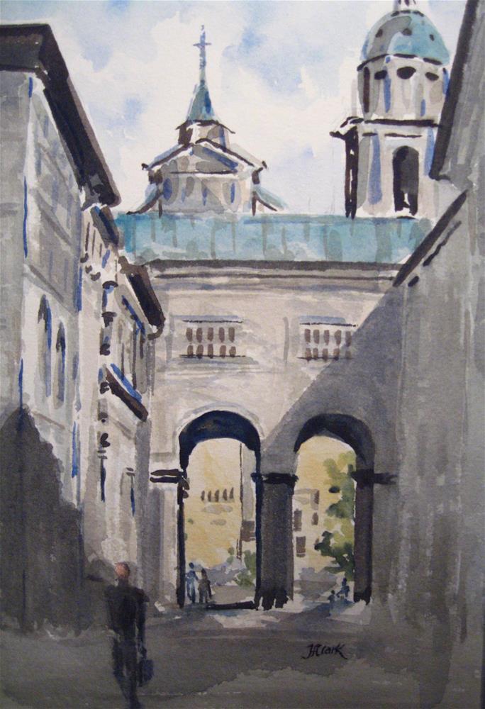 """""""Alstadt - Salzburg"""" original fine art by Judith Freeman Clark"""
