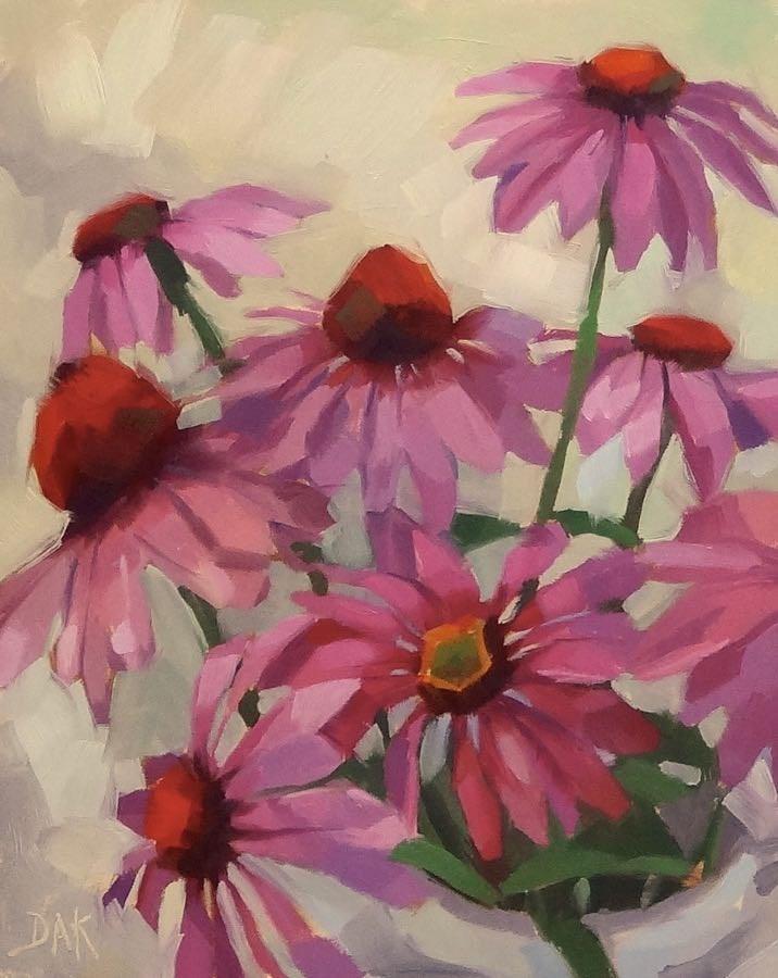 """""""Purple Cone Assembly"""" original fine art by Deborah Ann Kirkeeide"""