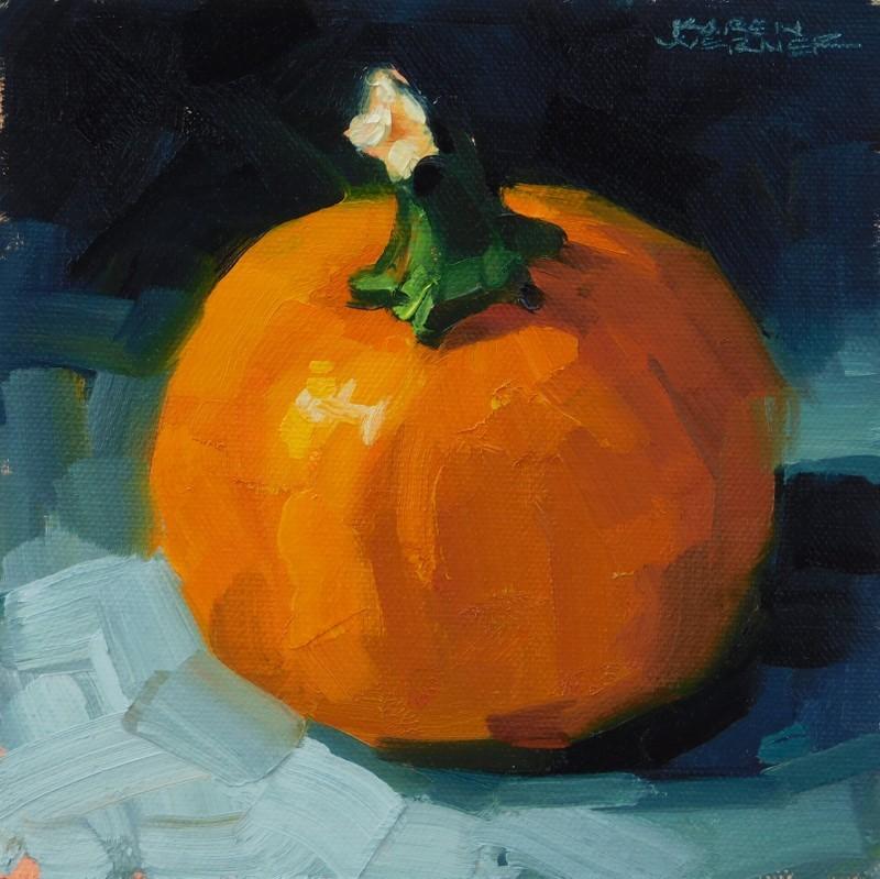"""""""Night Pumpkin"""" original fine art by Karen Werner"""