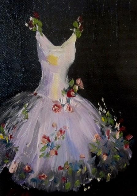 """White Dress"" original fine art by Delilah Smith"