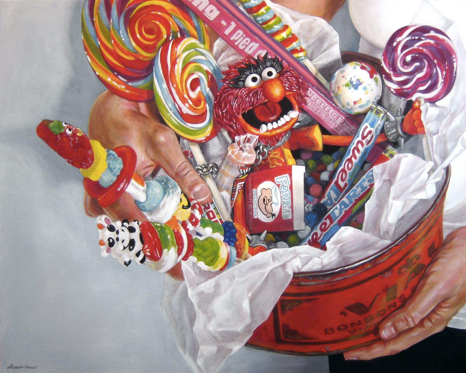 """Waist Deep In Bonbons"" original fine art by Angela Hardy"