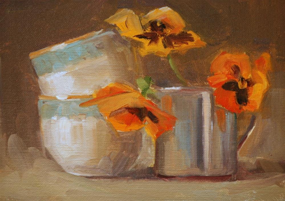"""lean on me"" original fine art by Carol Carmichael"