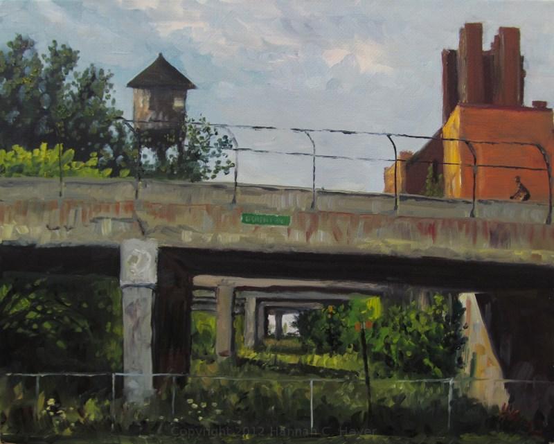"""Overpasses"" original fine art by Hannah C. Heyer"
