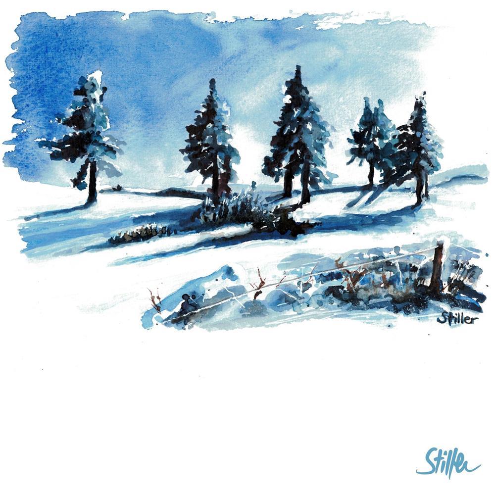 """3409 Winter Trees"" original fine art by Dietmar Stiller"
