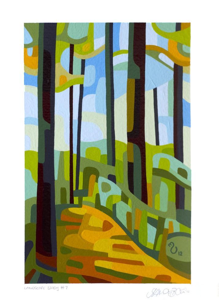 """Landscape Study #7"" original fine art by Mandy Budan"