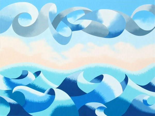 """""""Mark Webster - Abstract Ocean Seascape Oil Painting 30x40"""" original fine art by Mark Webster"""