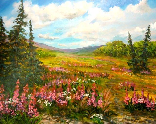 """Yukon Summer Meadow"" original fine art by Jackie Irvine"