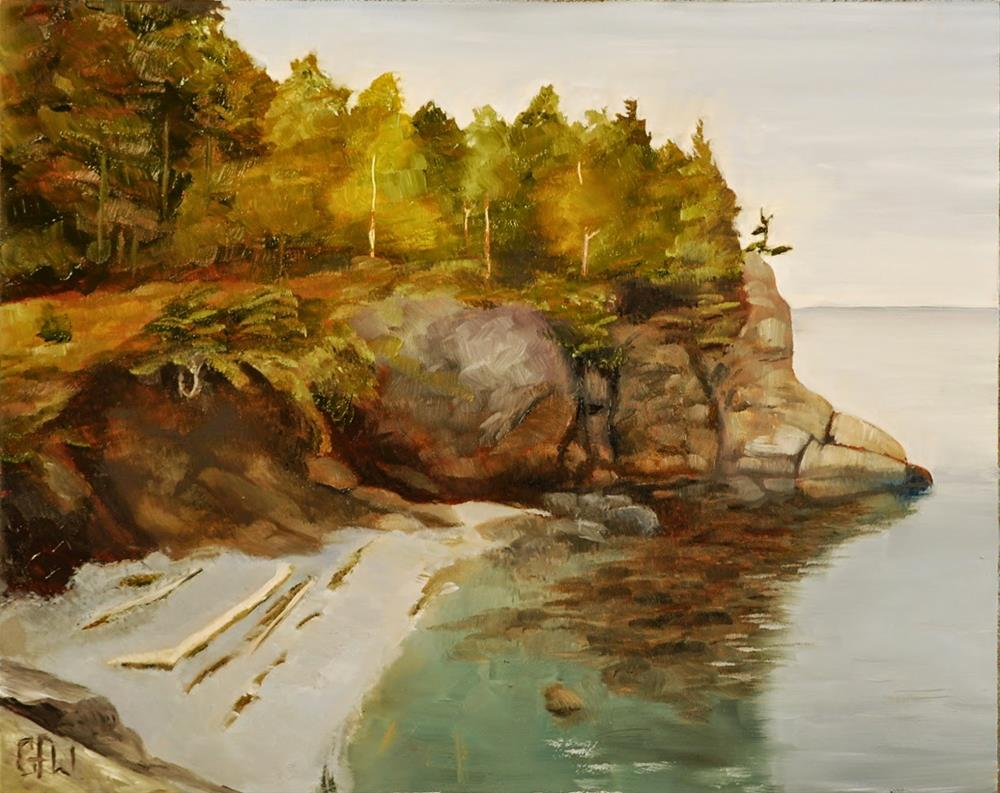 """Cliff By The Sea"" original fine art by Gary Westlake"