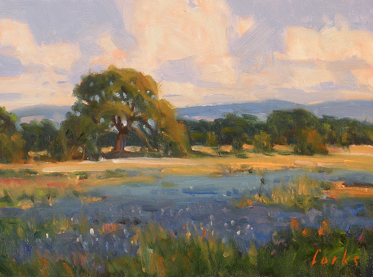 """Hill Country Blue"" original fine art by David Forks"