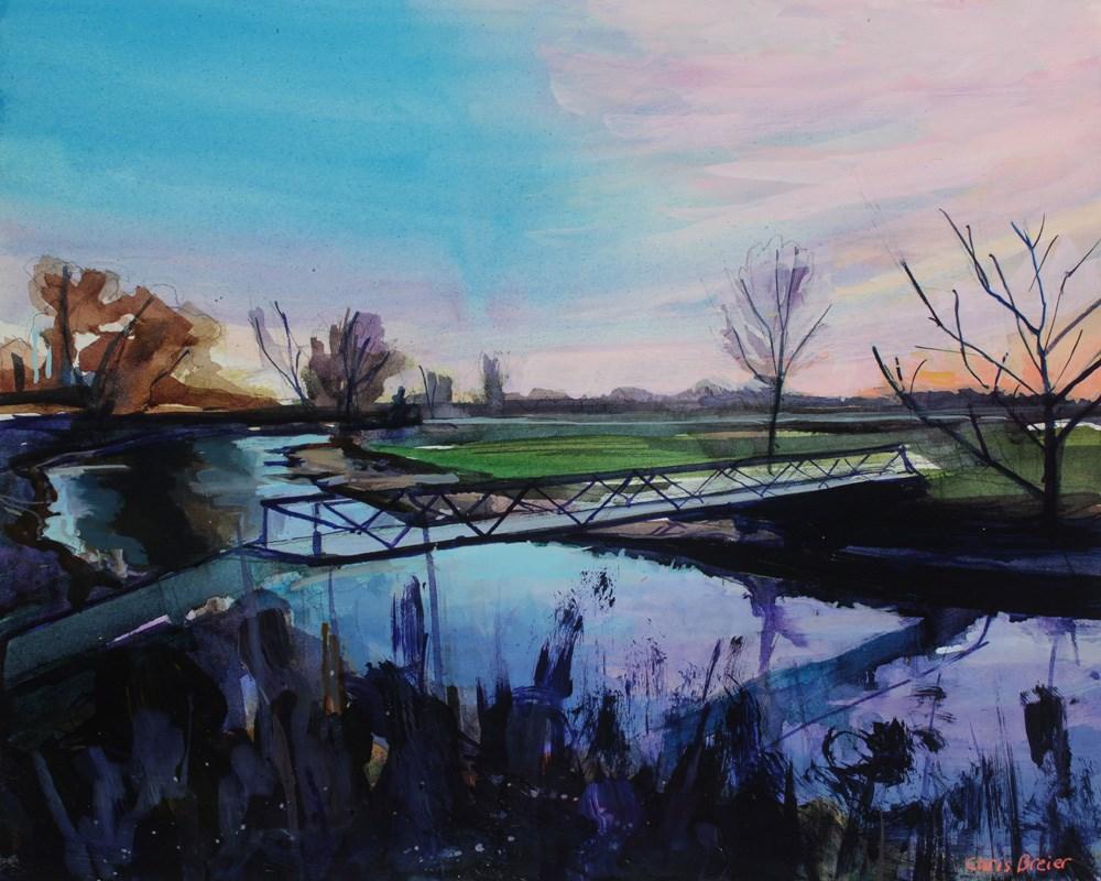 """Footbridge"" original fine art by Chris Breier"