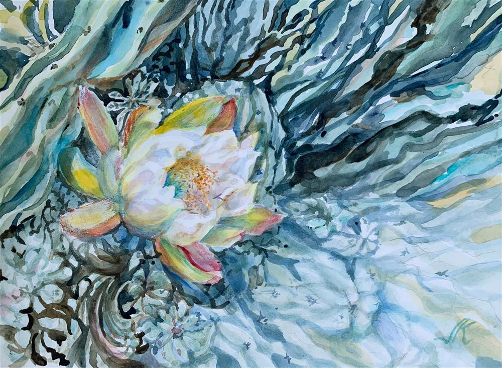 """San Pedro Cactus"" original fine art by Jean Krueger"
