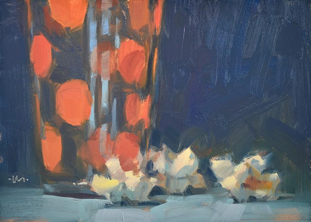 """""""Polka Corn"""" original fine art by Carol Marine"""