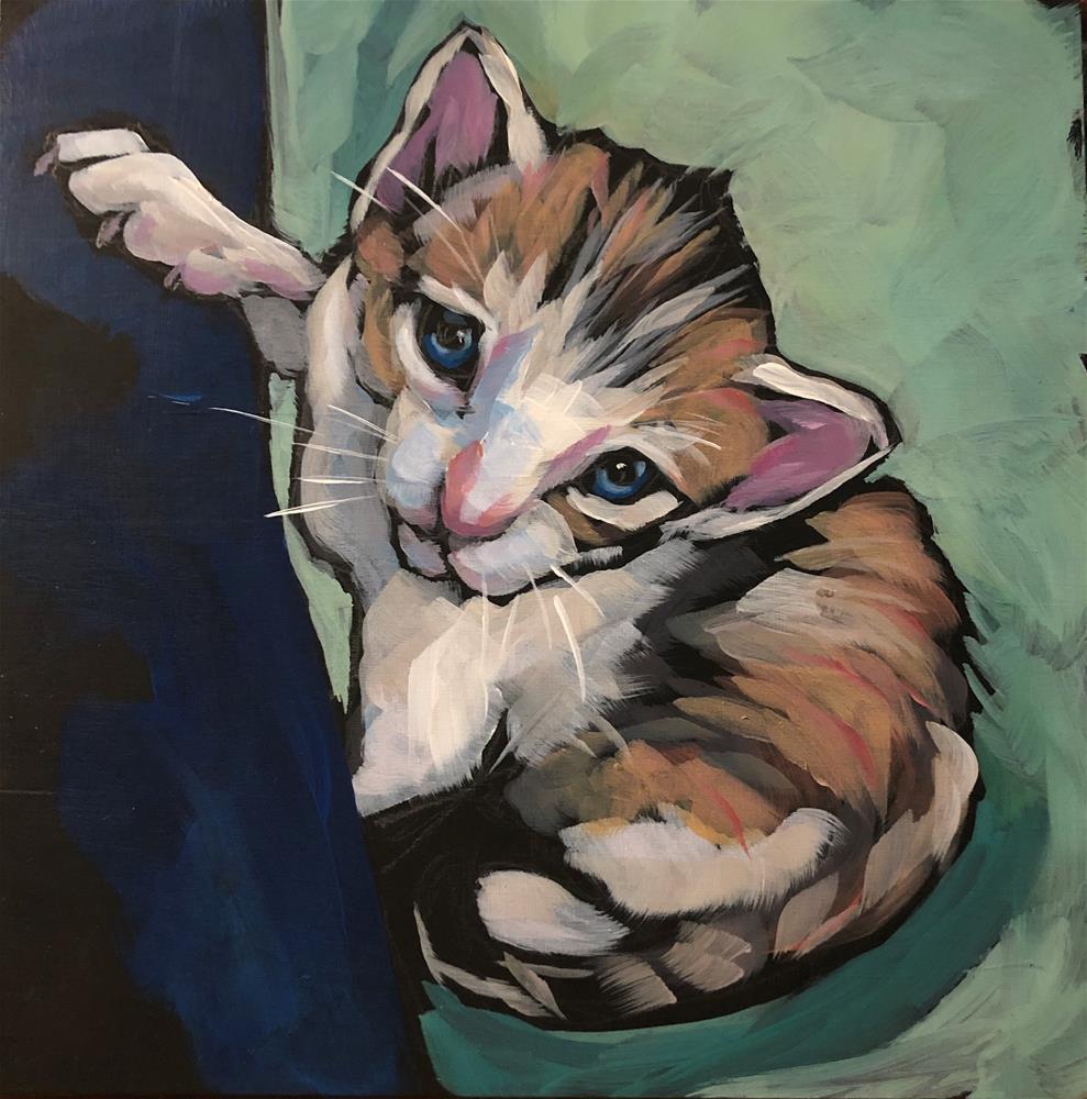 """Costa Rica Kitty"" original fine art by Kat Corrigan"