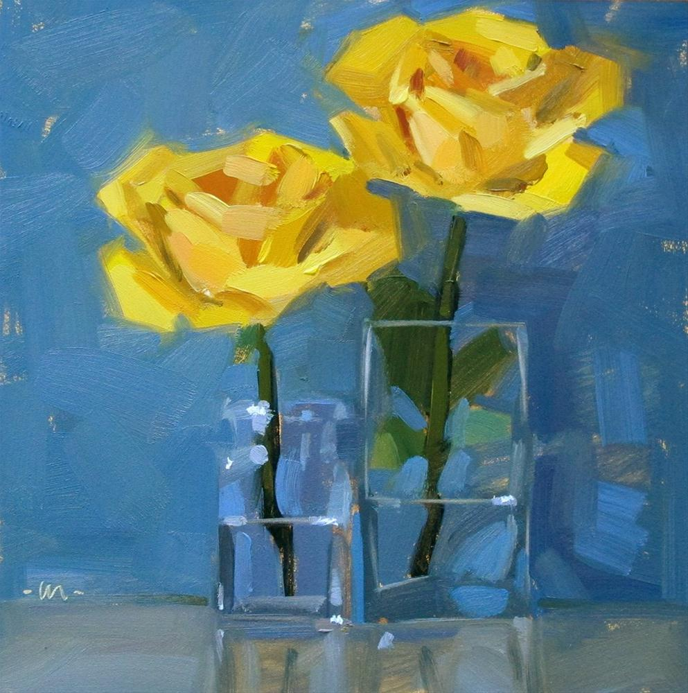"""Rising Roses"" original fine art by Carol Marine"