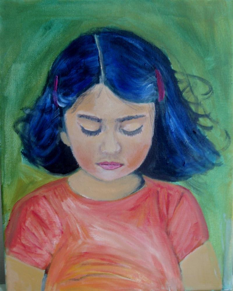 """Shy Child"" original fine art by Gerri Obrecht"