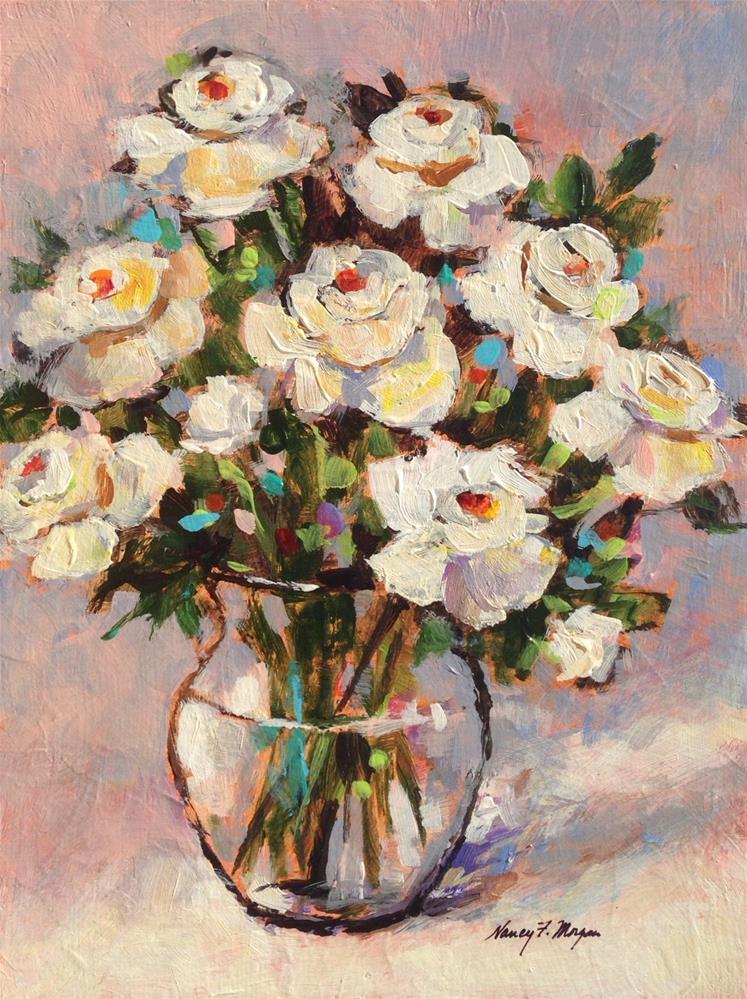 """Special Roses"" original fine art by Nancy F. Morgan"