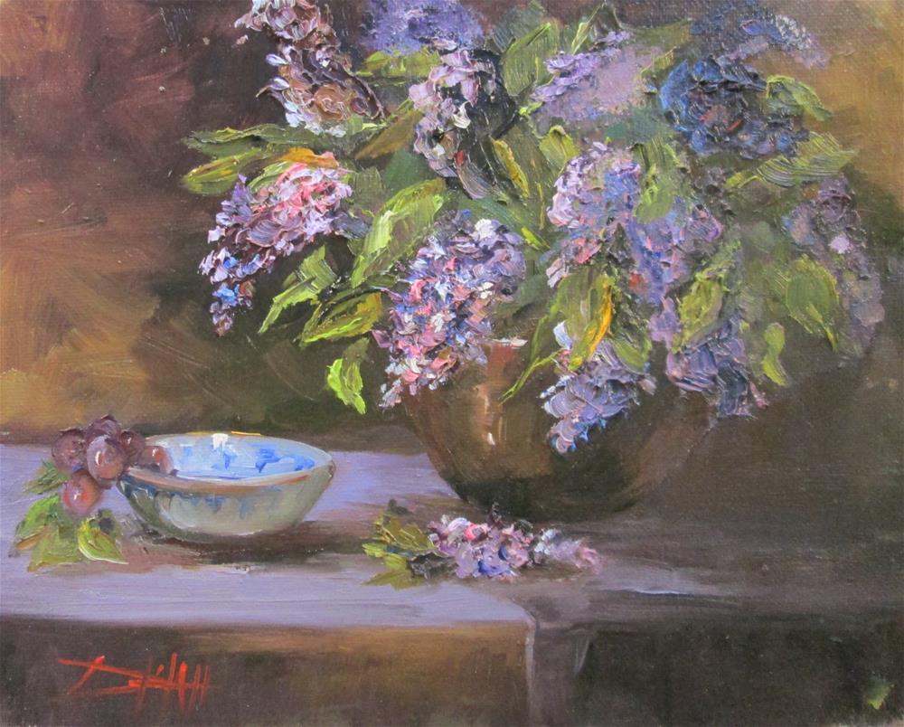 """Lilac Still Life"" original fine art by Delilah Smith"