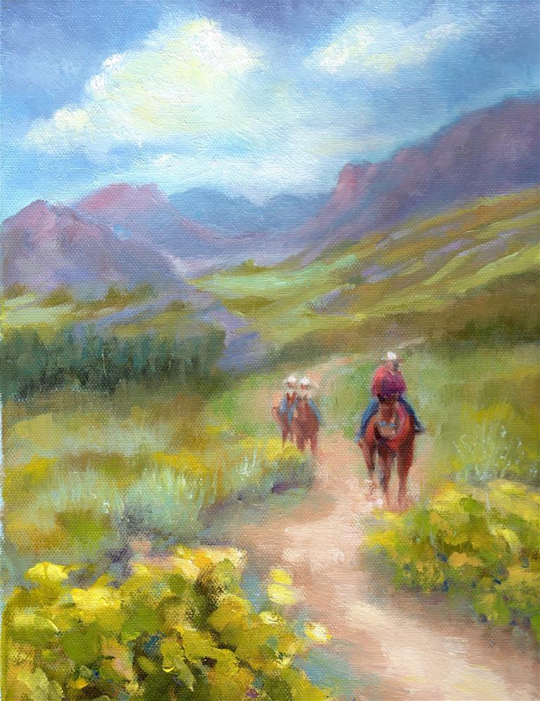 """Trail Ride"" original fine art by Kathy Bodamer"