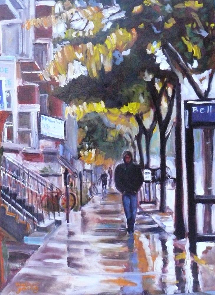 """1028 Park Avenue, Montreal Scene, 18x24, oil on canvas"" original fine art by Darlene Young"