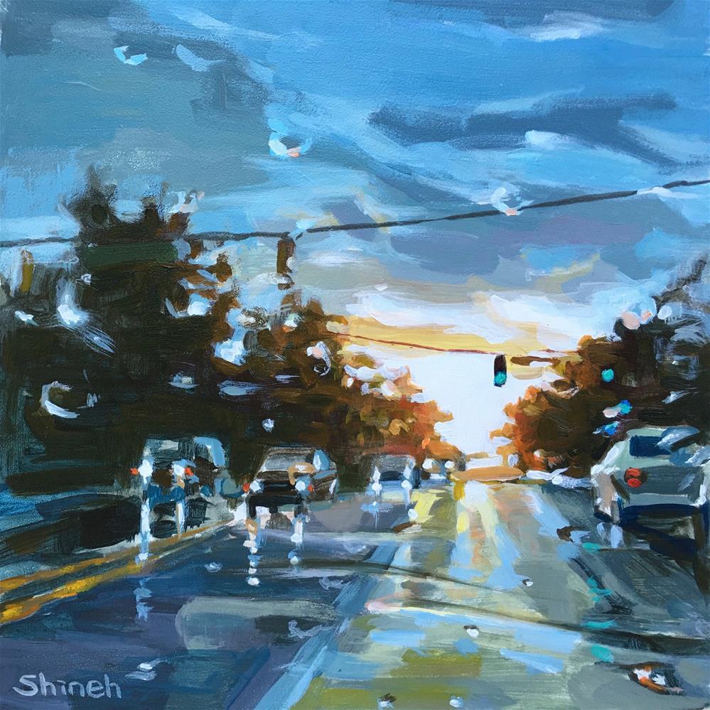 """September Rain #2"" original fine art by Shineh Kim Yoon"