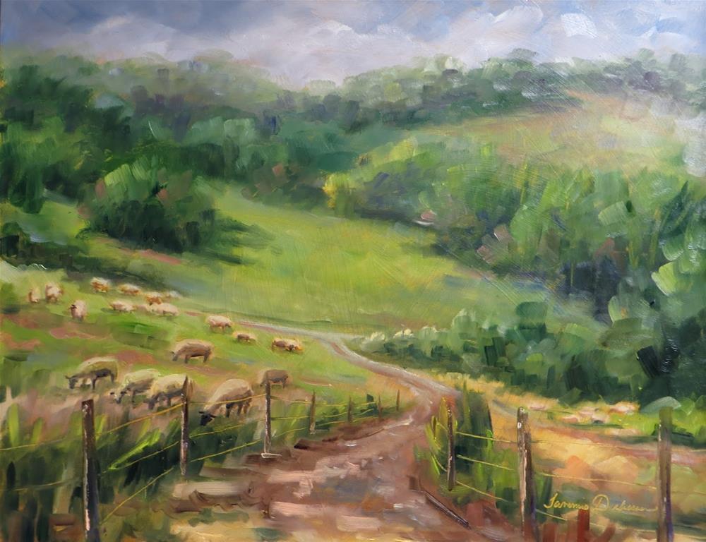 """Grazing at Green Dirt Farm"" original fine art by Tammie Dickerson"