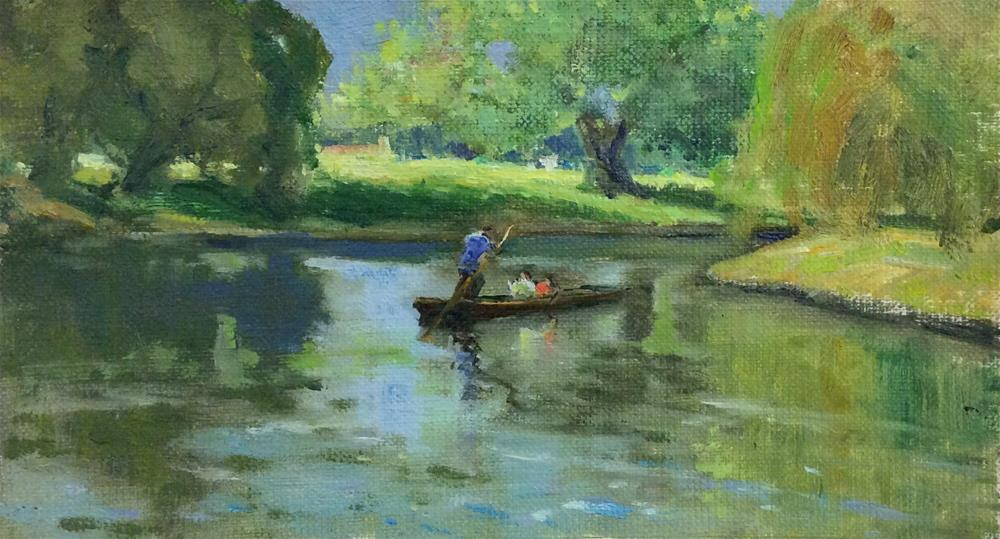 """Punting on The Cam"" original fine art by John Shave"