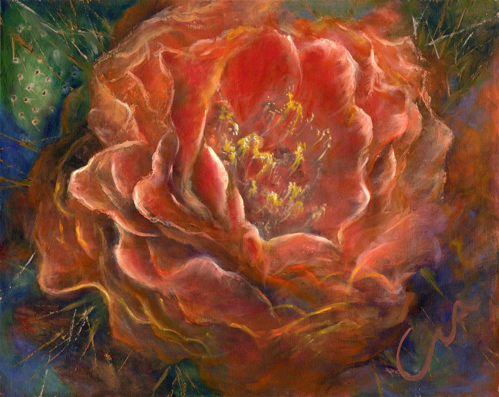 """""""Desert Passion"""" original fine art by Sharon Abbott-Furze"""