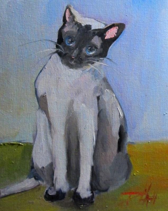 """""""Siamese Cat"""" original fine art by Delilah Smith"""