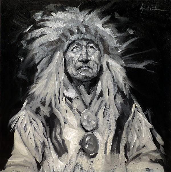 """Big Man"" original fine art by Karin Jurick"