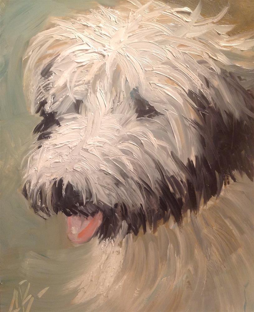 """Lovable WheatenTerrier"" original fine art by Annette Balesteri"
