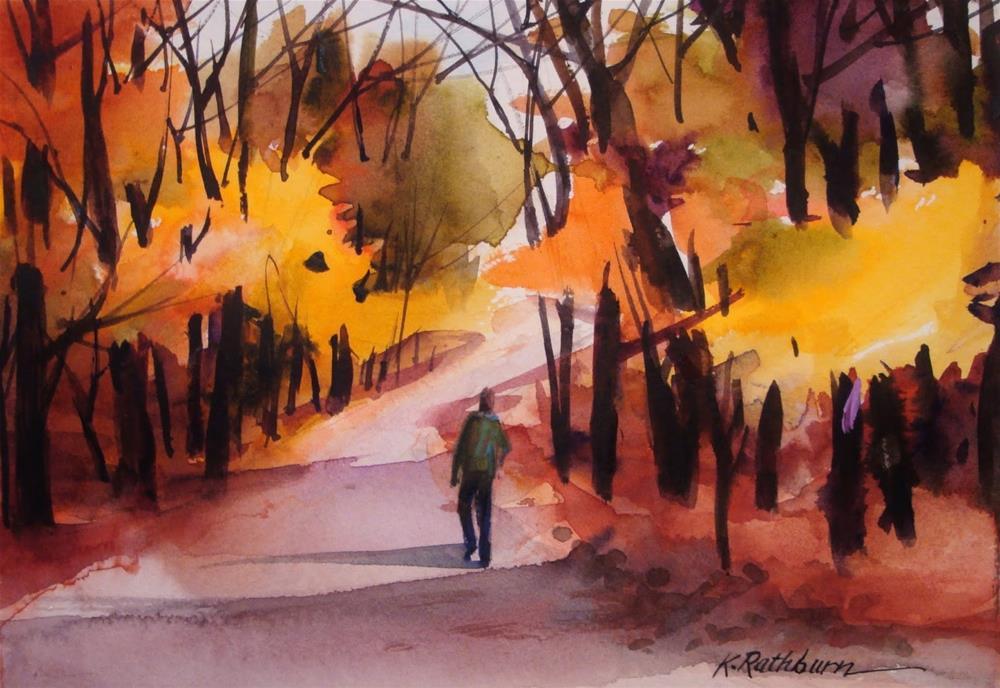 """""""Fall Demo"""" original fine art by Kathy Los-Rathburn"""