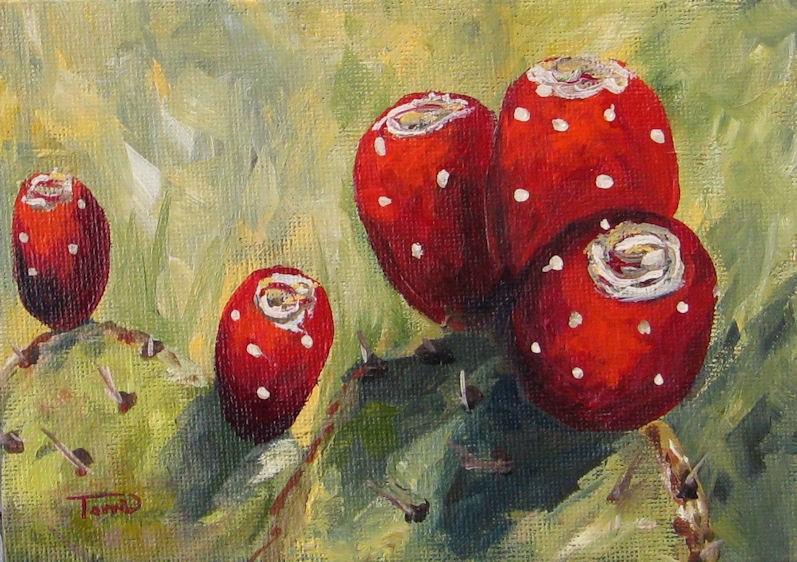 """Prickly Pear Cactus"" original fine art by Torrie Smiley"