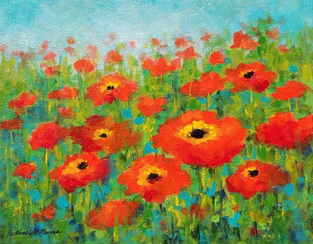 """Where the Poppies Grow"" original fine art by Nancy F. Morgan"